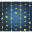 background with garlands of stars vector image