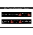Banners Black Friday Sale in Wonderland - Jewelry vector image vector image