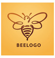 bee logo bee honey vector image vector image