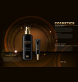 black cosmetics bottles realistic product vector image vector image