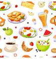 breakfast food seamless pattern design element vector image vector image