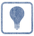 bulb fabric textured icon vector image vector image