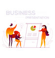 business presentation - modern flat design style vector image vector image