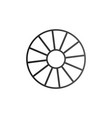 cart wheel icon isolated on white background vector image vector image