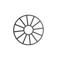 cart wheel icon isolated on white background vector image