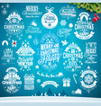 christmas decoration collection of calligraphic vector image vector image