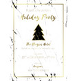 christmas party invitation black gold and white vector image vector image