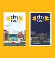 city tour set banners posters vector image vector image