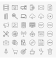 Coding Line Icons Set vector image vector image