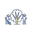 community garden rgb color icon vector image vector image