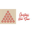 covid19 christmas and new year greeting flat vector image