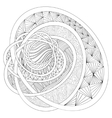 Decorative drawing Zentangle vector image vector image