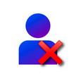delete user profile icon vector image vector image
