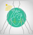 echocardiogram logo icon design vector image vector image