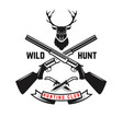 emblem template hunting with deer head vector image