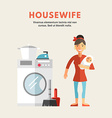 Flat Design of Housewife Infographic Design vector image