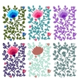 Floral decorative cards vector image vector image