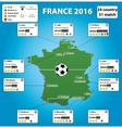 France soccer stadium map and infographics vector image