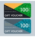 Gift voucher template with modern pattern design vector image vector image