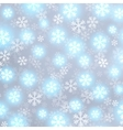 Glowing snow on grey background vector image