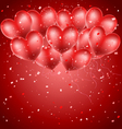 heart balloons flying vector image vector image