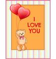 i love you inscription on poster cute teddy bear vector image