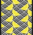 lemon slices on geometric background vector image vector image