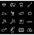line mining icon set vector image vector image