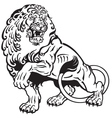 lion tattoo black white vector image vector image