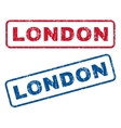 London Rubber Stamps vector image