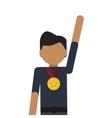 man winner medal champion award vector image vector image