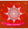 Merry Christmas card and snowflake decoration vector image vector image