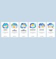 mobile app onboarding screens cyber security vector image vector image