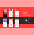 mobile banking template for mobile app vector image