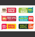 modern sale stickers and tags collection vector image