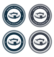 Nautical emblem with life ring vector image vector image