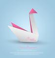 paper swan vector image vector image