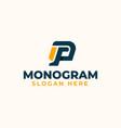pg gp p g letter monogram logo template vector image vector image