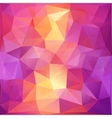 Pink and orange triangles abstract background vector image