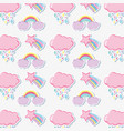 punchy pastels pattern background cartoon vector image