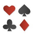 set of playing card sign symbols paper art of vector image vector image