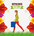 spring sale design vector image vector image