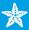 starfish icon white vector image