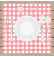 Table setting etiquette vector image vector image