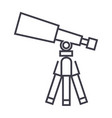 telescopescope line icon sign vector image vector image