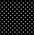 tile pattern with white polka dots on black vector image