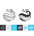wave see simple black thin line splash icon vector image vector image