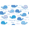 whale pattern vector image vector image