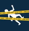 white corpse like crime scene vector image vector image