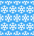 white geometric snowflakes on blue winter seamless vector image